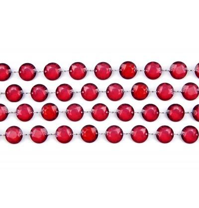 Guirnalda decorativa de cristal transparente de 1 m y 18 mm de diámetro