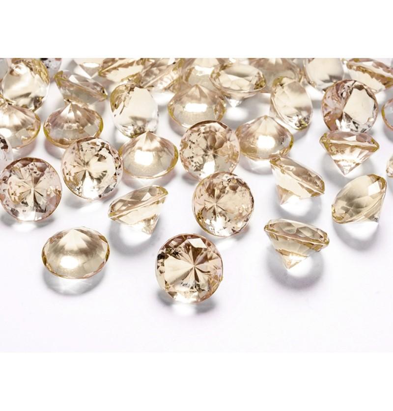 Set de 10 diamantes decorativos dorado para mesa de 20 mm