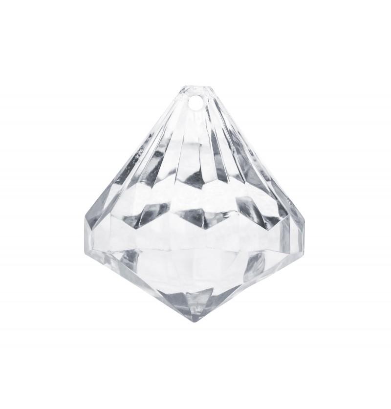 Set de 5 decoraciones de cristal forma de diamante grande