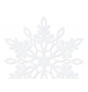 Set de 10 decoraciones para mesa blancas de copo de nieve con doble punta de 9 cm