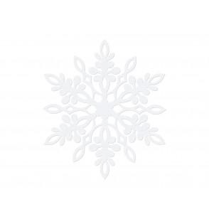 Set de 10 decoraciones para mesa blancas de copo de nieve con doble punta de 13 cm