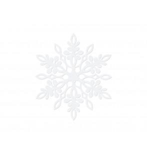 Set de 10 decoraciones para mesa blancas de copo de nieve con doble punta de 11 cm