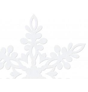 Set de 10 decoraciones para mesa blancas de copo de nieve de 13 cm - Christmas
