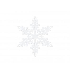 Set de 10 decoraciones para mesa blancas de copo de nieve de 11 cm - Christmas