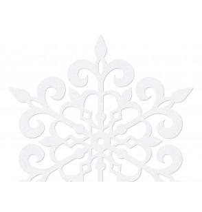 Set de 10 decoraciones para mesa blancas de copo de nieve redondo de 9 cm - Christmas