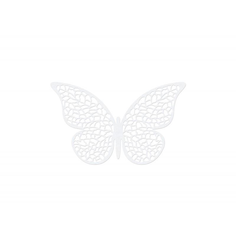 Set de 10 mariposas blancas pequeñas con alas para mesa
