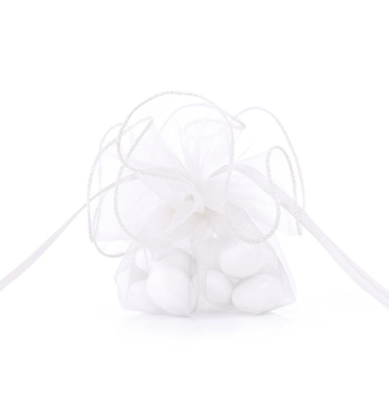 Set de 20 bolsitas blancas de organza