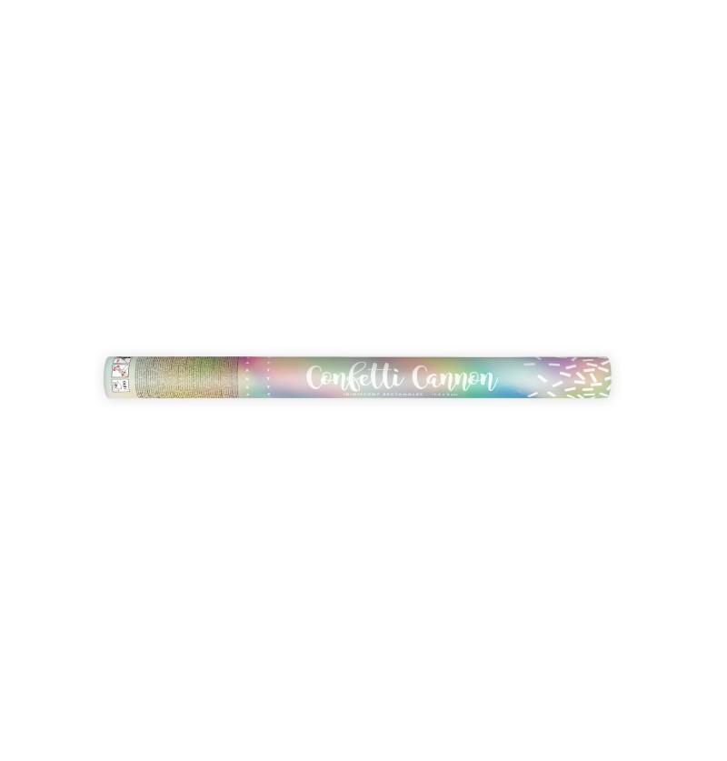 Cañón de confeti iridiscente de 60 cm
