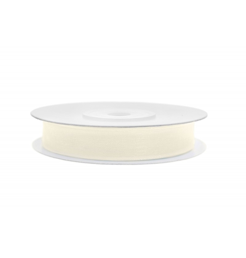 Cinta de gasa beige claro de 0,6 cm