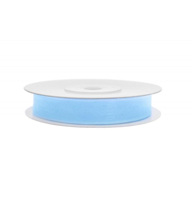 Cinta de gasa azul cielo de 0,6 cm
