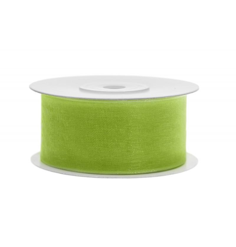 Cinta de gasa verde claro de 3,8 cm