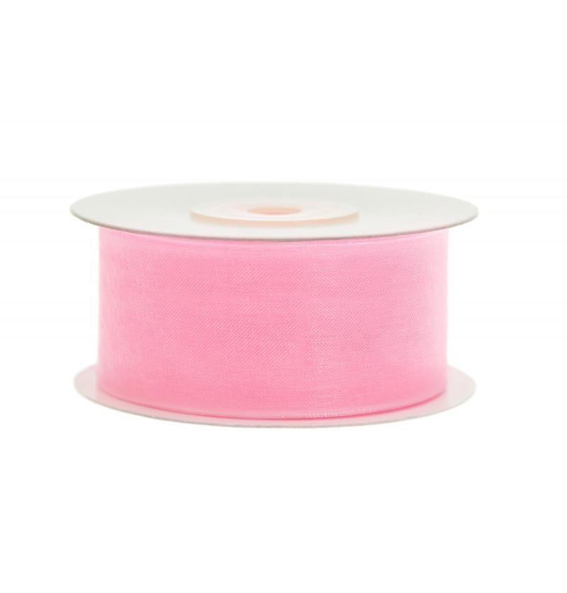 Cinta de gasa rosa pastel de 3,8 cm