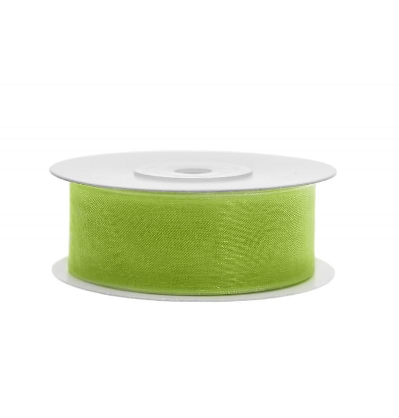 Cinta de gasa verde claro de 2,5 cm