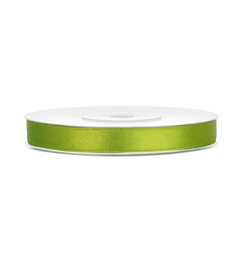Cinta verde claro satinada de 6mm x 25m