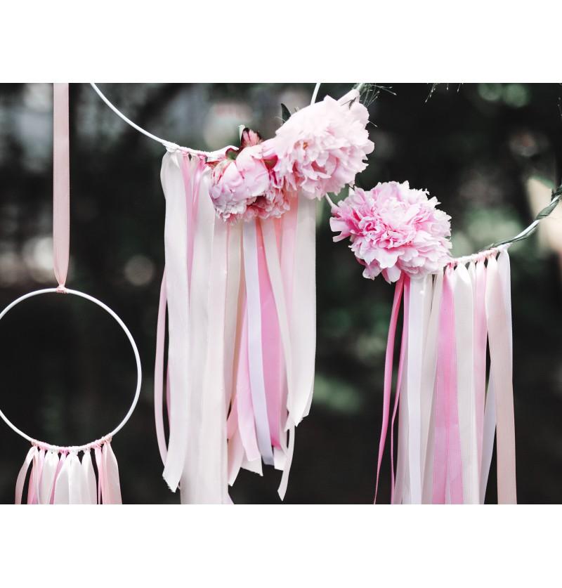 Cinta rosa pálido satinada de 6mm x 25m