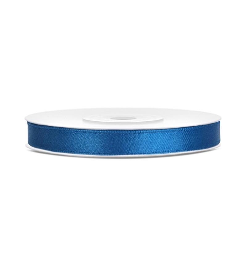 Cinta azul satinada de 6mm x 25m
