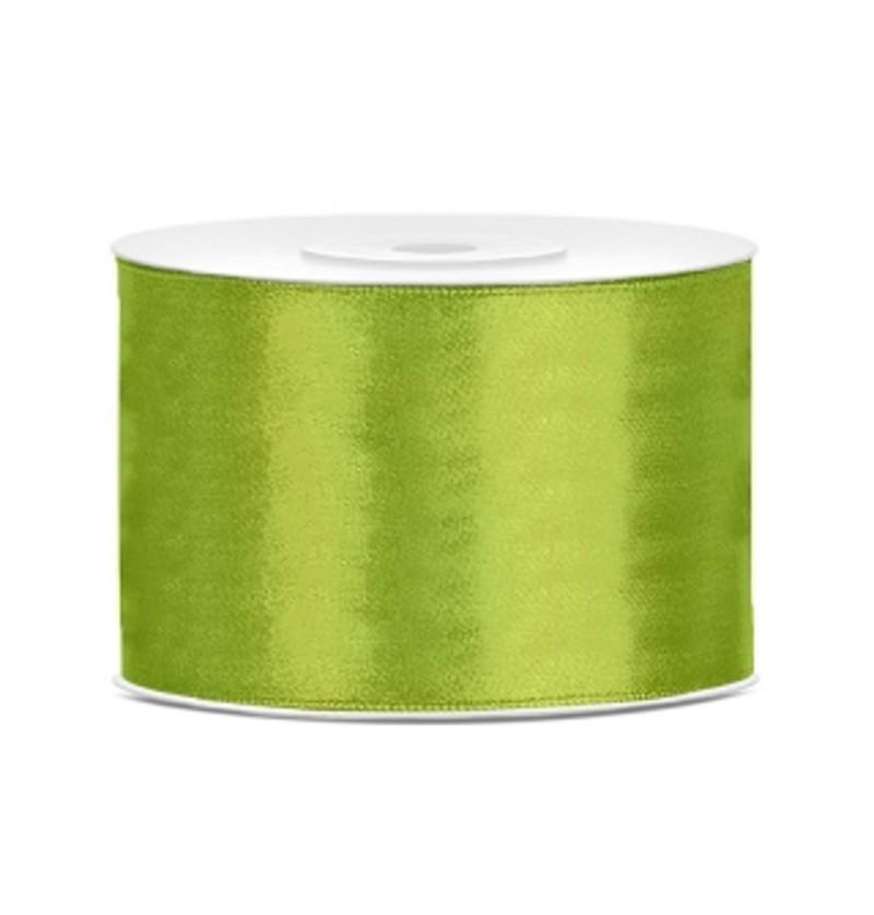 Cinta verde claro satinada de 50mm x 25m