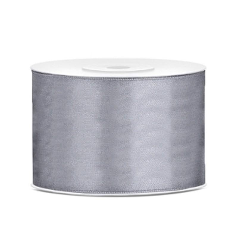 Cinta gris satinada de 50mm x 25m