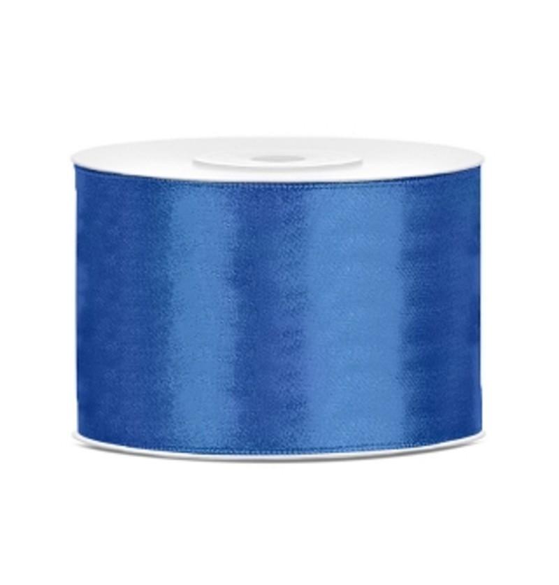 Cinta azul oscuro satinada de 50mm x 25m