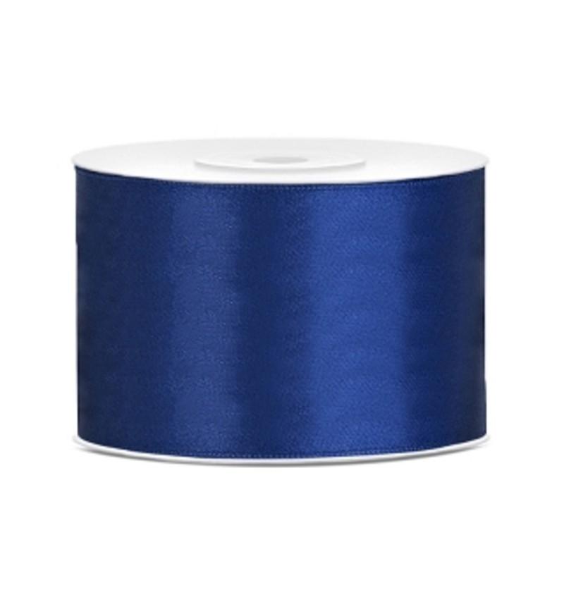 Cinta azul marino satinada de 50mm x 25m