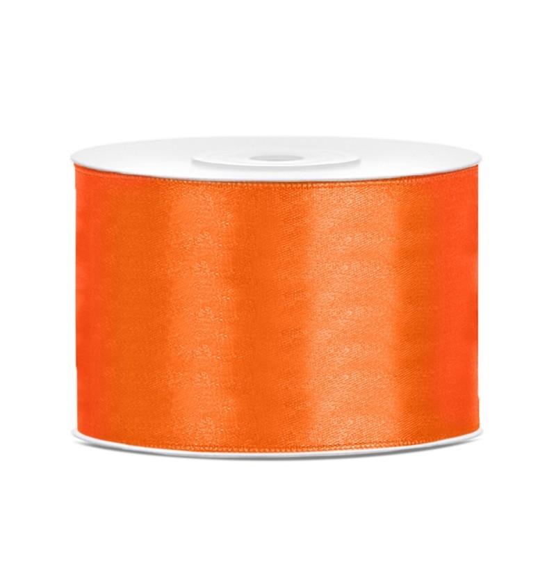 Cinta naranja satinada de 50mm x 25m