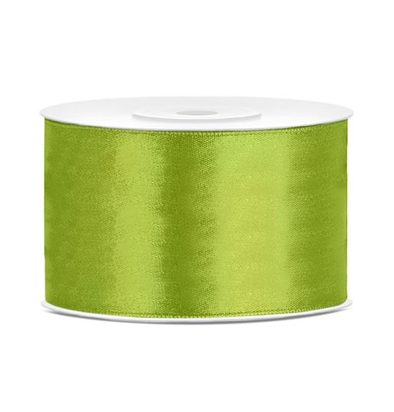 Cinta verde claro satinada de 38mm x 25m