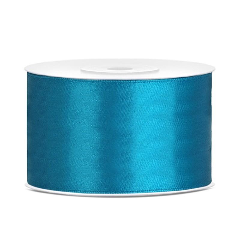 Cinta azul turquesa satinada de 38mm x 25m