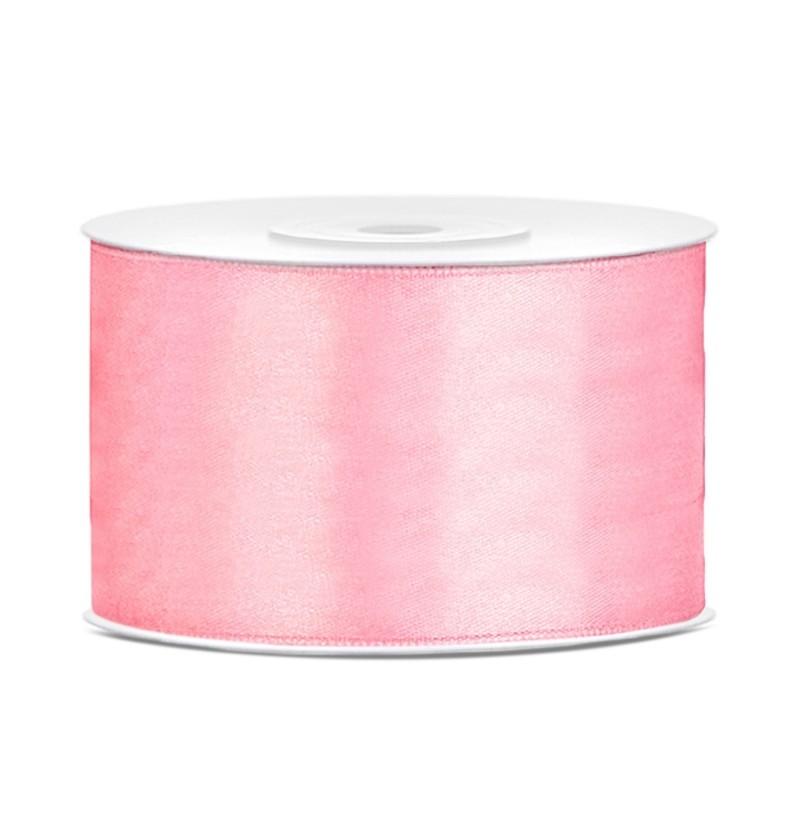 Cinta rosa pastel satinada de 38mm x 25m