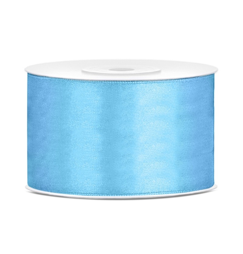 Cinta azul cielo satinada de 38mm x 25m