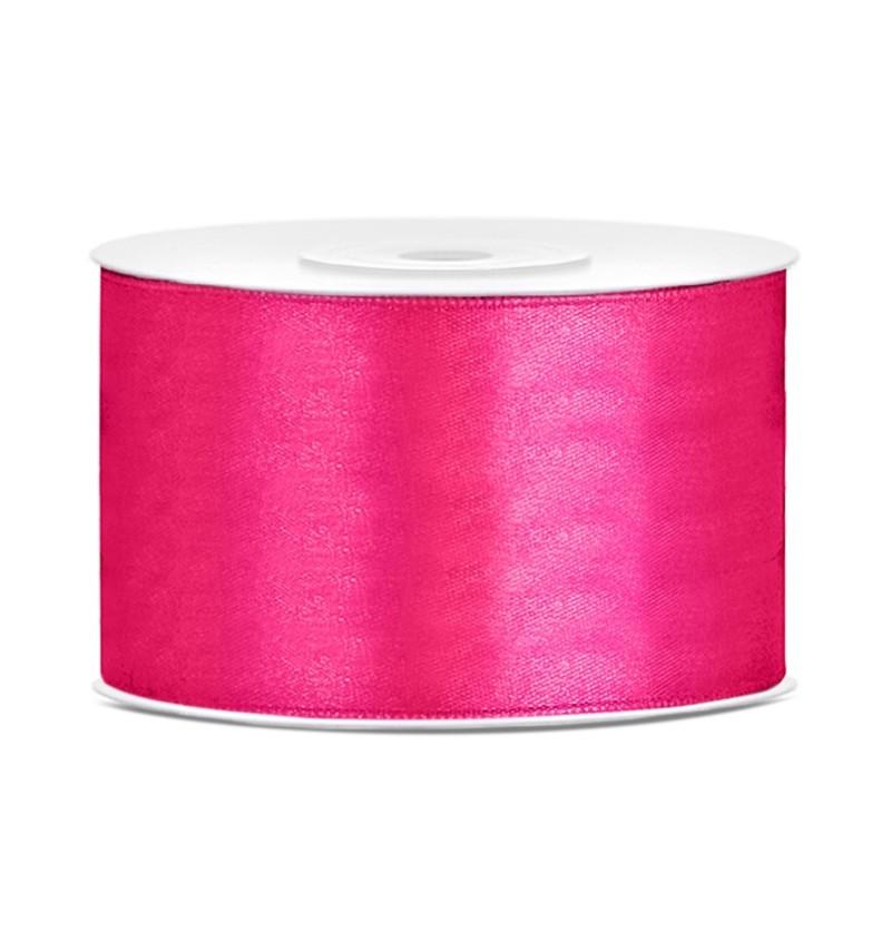 Cinta rosa oscuro satinada de 38mm x 25m