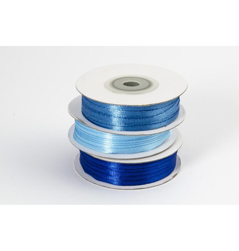 Cinta azul cielo satinada de 3mm x 50m