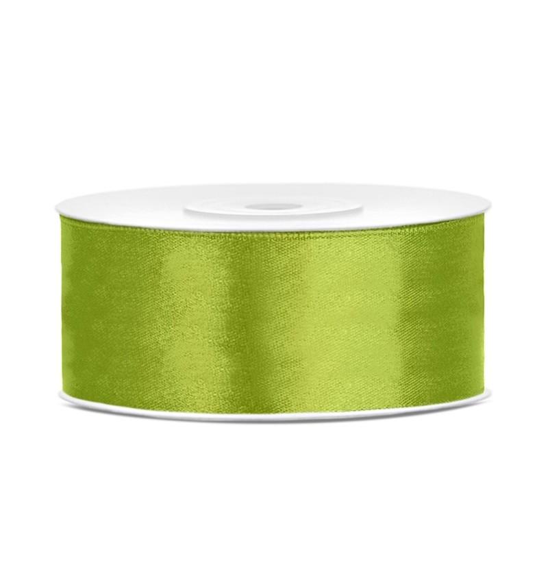 Cinta verde claro satinada de 25mm x 25m