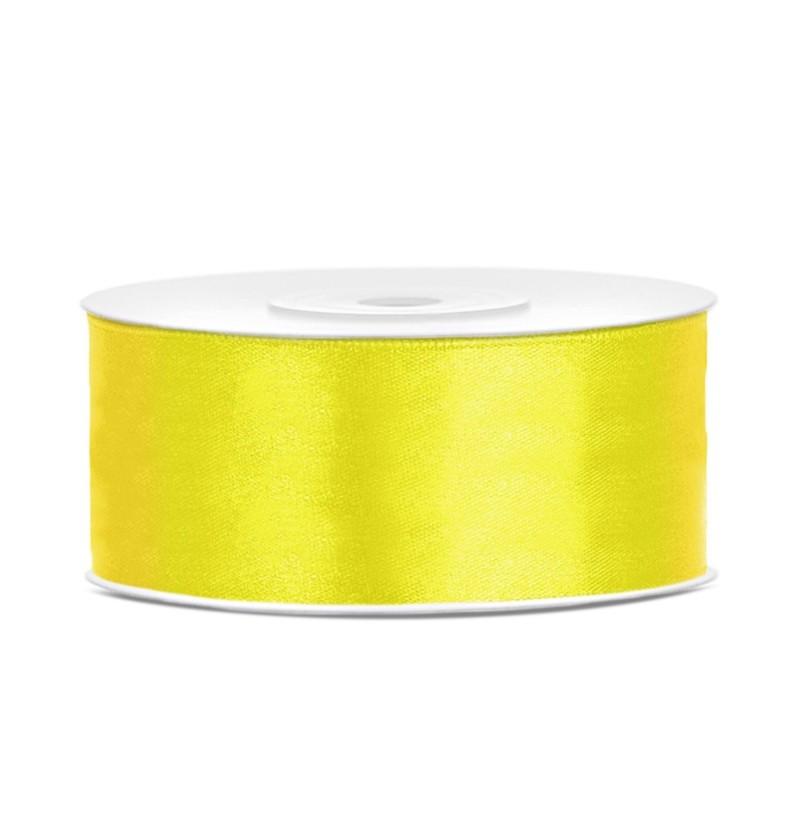 Cinta amarilla satinada de 25mm x 25m
