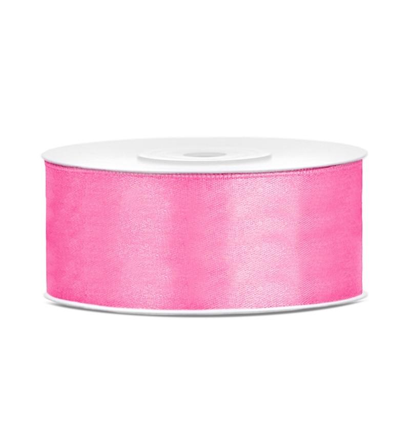 Cinta rosa satinada de 25mm x 25m
