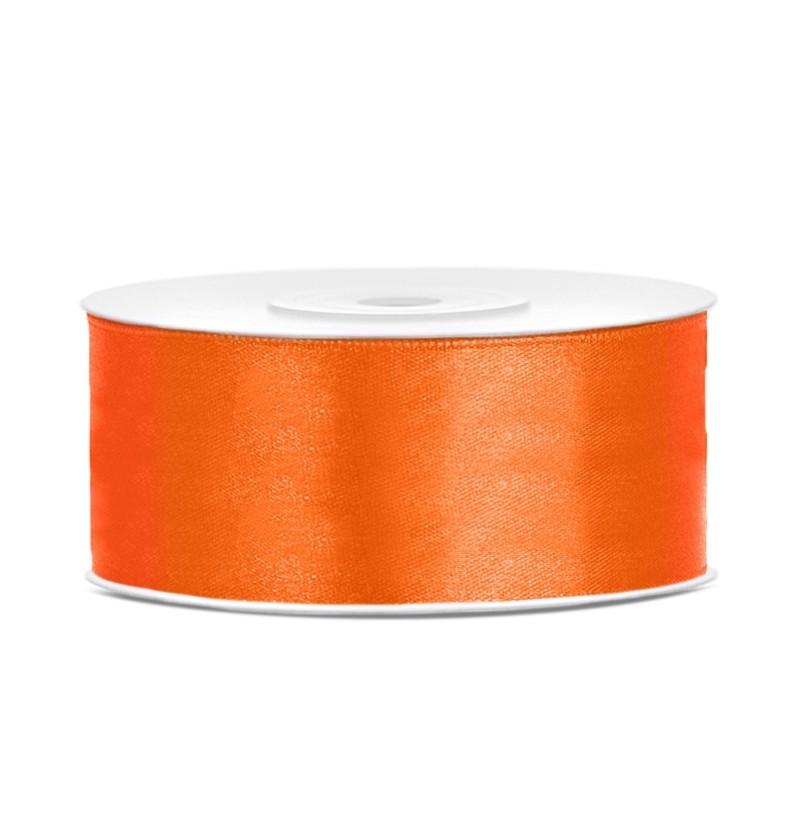 Cinta naranja satinada de 25mm x 25m