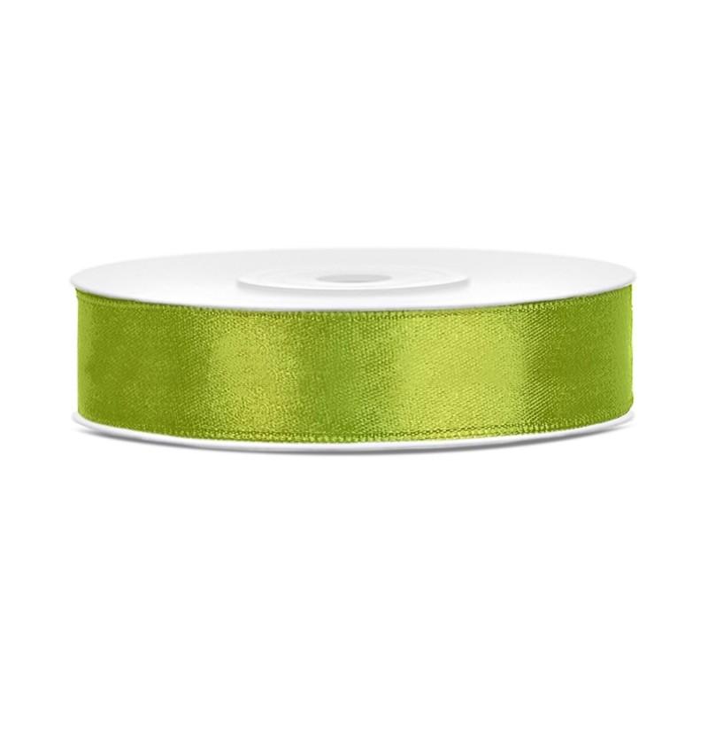 Cinta verde claro satinada de 12mm x 25m