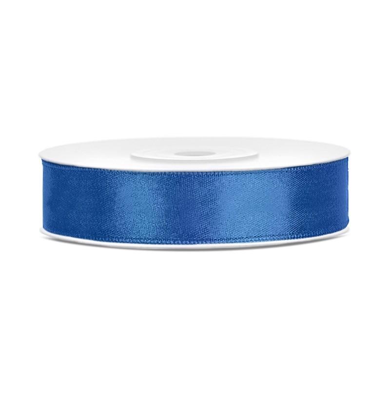 Cinta azul oscuro satinada de 12mm x 25m