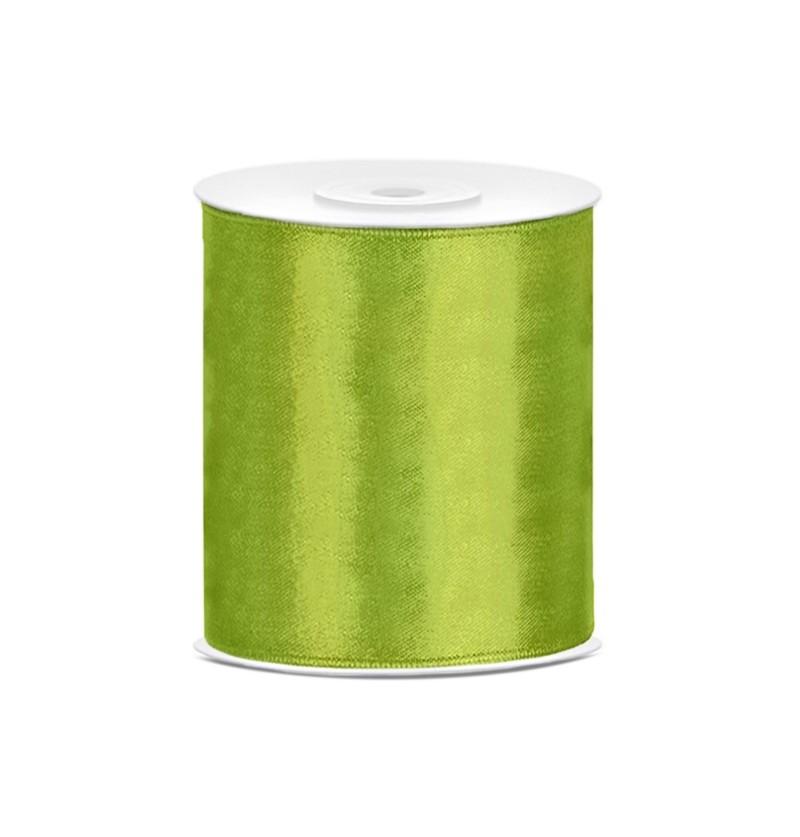 Cinta verde claro satinada de 10cm x 25m