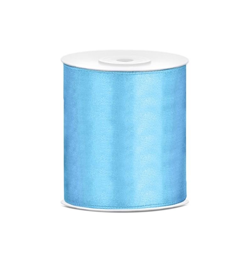 Cinta azul cielo satinada de 10cm x 25m