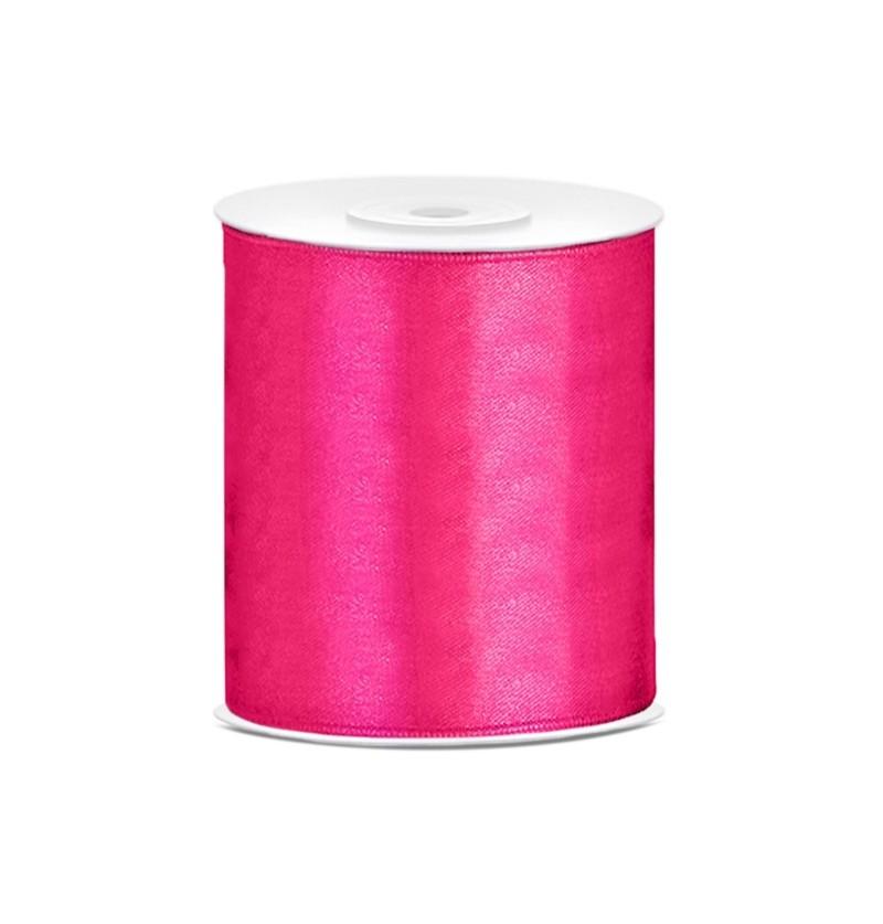 Cinta rosa oscura satinada de 10cm x 25m