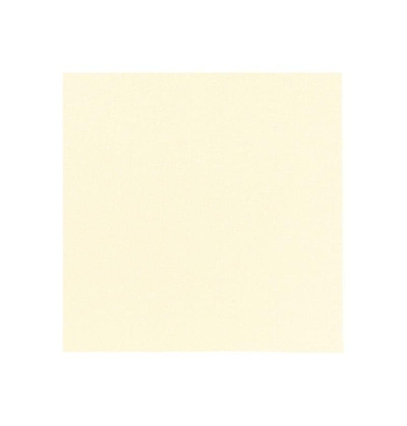 Set de 12 servilletas blancas de beige