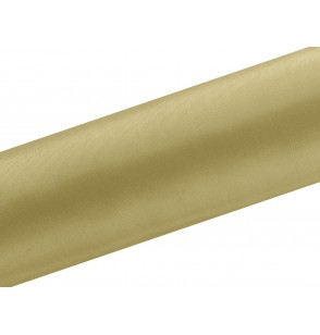 Camino de mesa dorado satinado de 16cm x 9m
