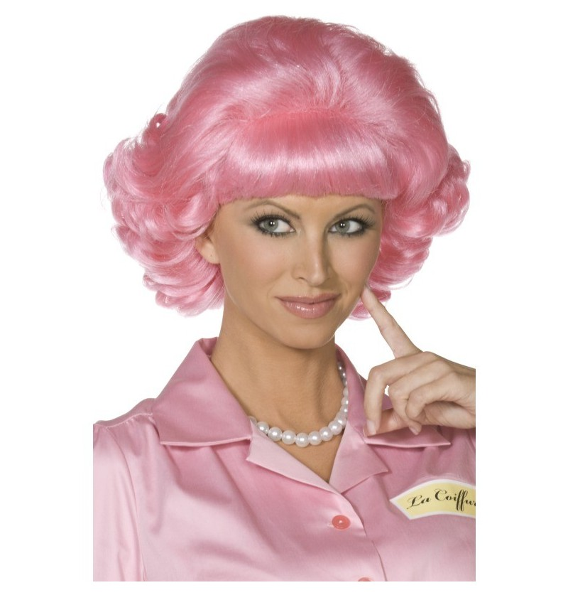 Peluca de Frenchy de Grease, Rosa