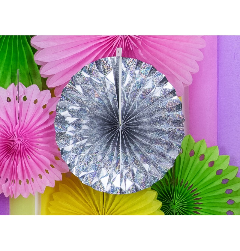 Set de 3 rosetones decorativos holográficos de papel