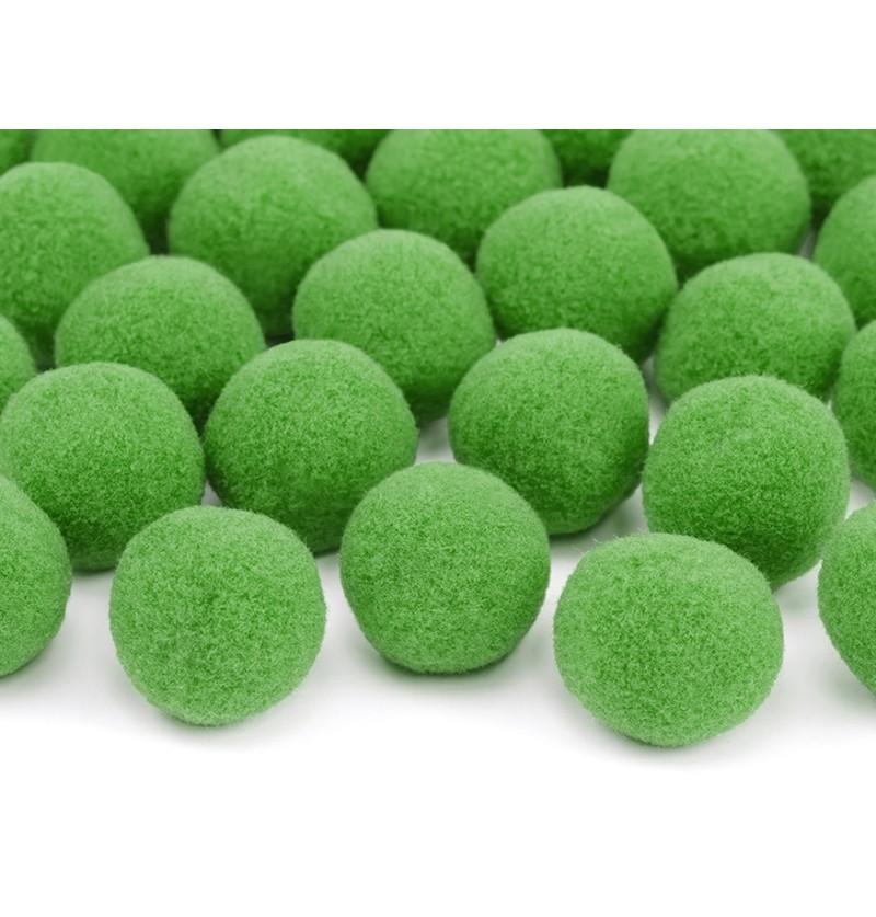 Set de 20 pompones verdes para mesa