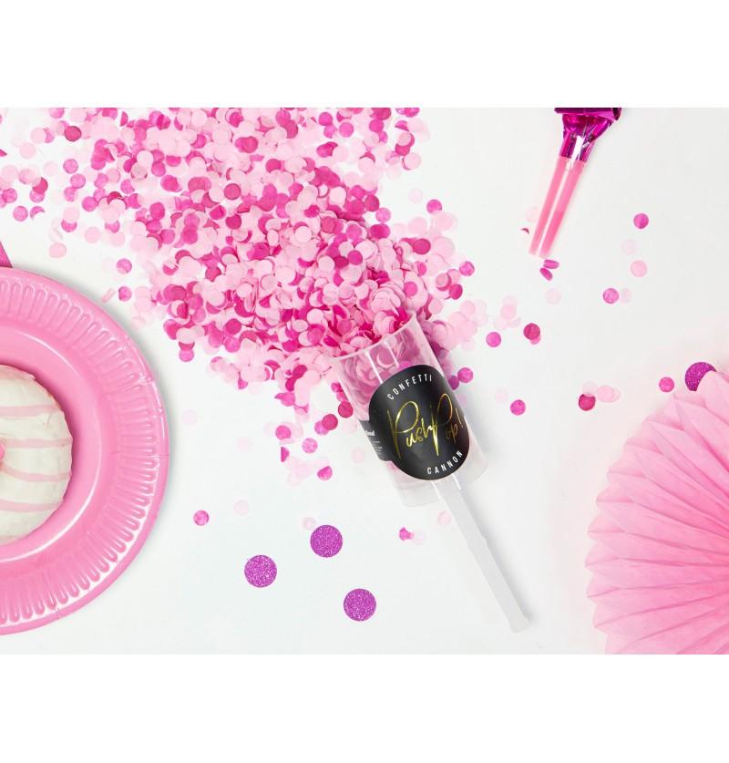 Cañón de confeti push pop rosas