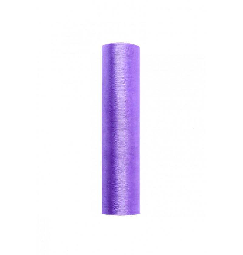 Rollo de organza lila de 16cm x 9m