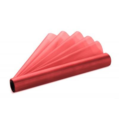 Rollo de organza rojo vino de 36cm x 9m