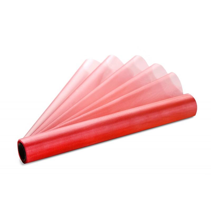 Rollo de organza rojo de 36cm x 9m