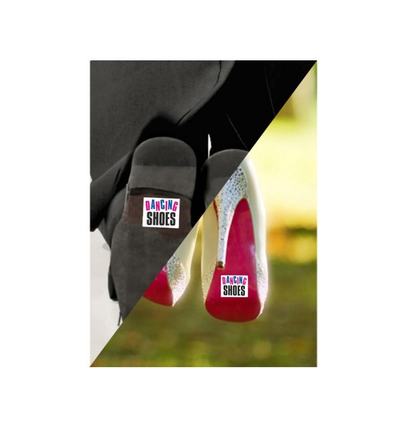 """Set de 2 pegatinas para la suela de los zapatos """"Dancing Shoes"""""""